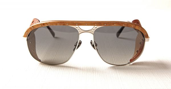 Lunettes Gold and Wood BORN HERITAGE, Nice